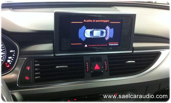 Sensori parcheggio grafici Audi A6 4G