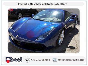Ferrari 488 spider antifurto satellitare