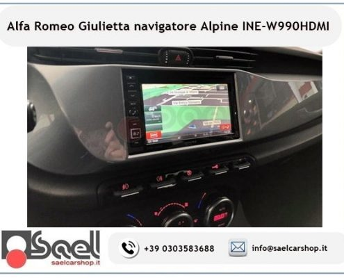 Navigatore 2 din Alpine Alfa Romeo Giulietta fino al 2013