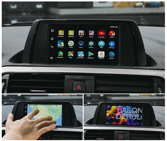 Navigatore Android BMW iD6 display 6,5""
